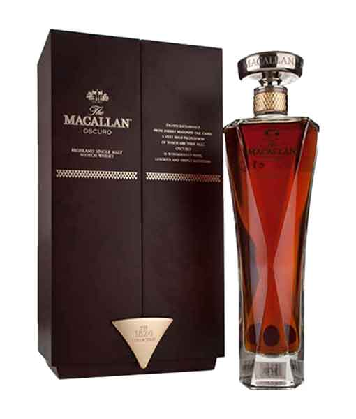 Rượu Macallan Oscuro và hộp - The Macallan 1824 Collection