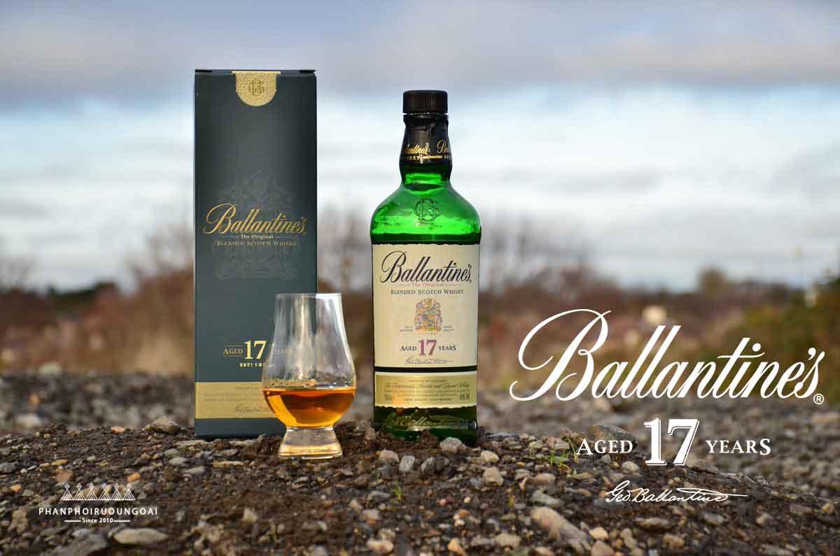 Ảnh chụp thực tế rượu Ballantine's 17 năm