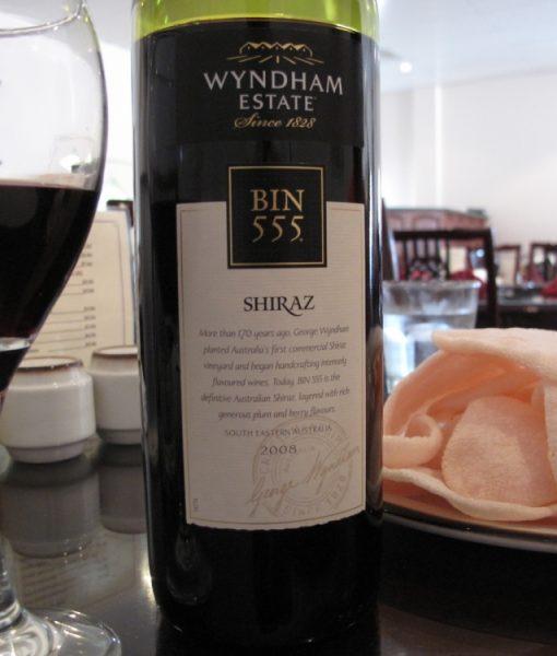 Ảnh thật của rượu George Wynham Bin 555