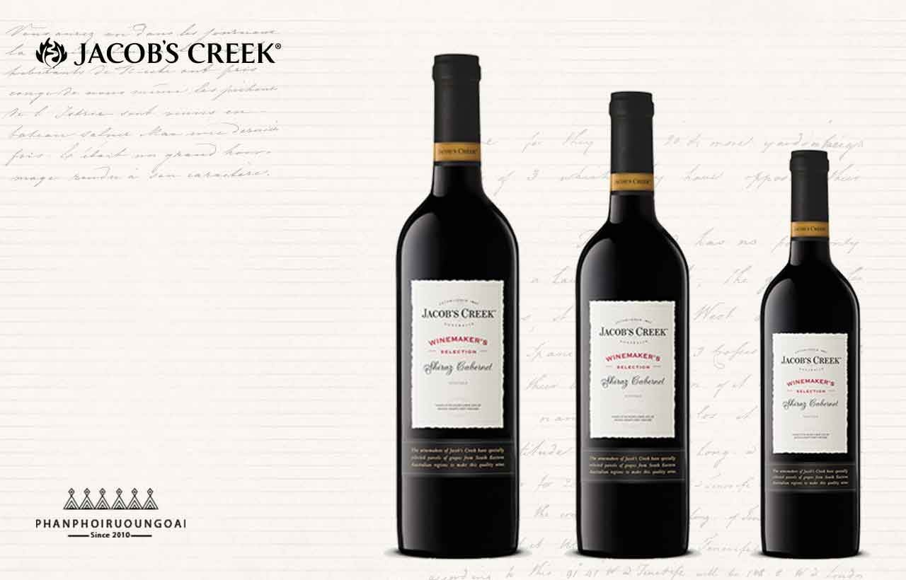 Banner quảng cáo thương hiệu rượu vang Jacob's Creek Shiraz Cabernet