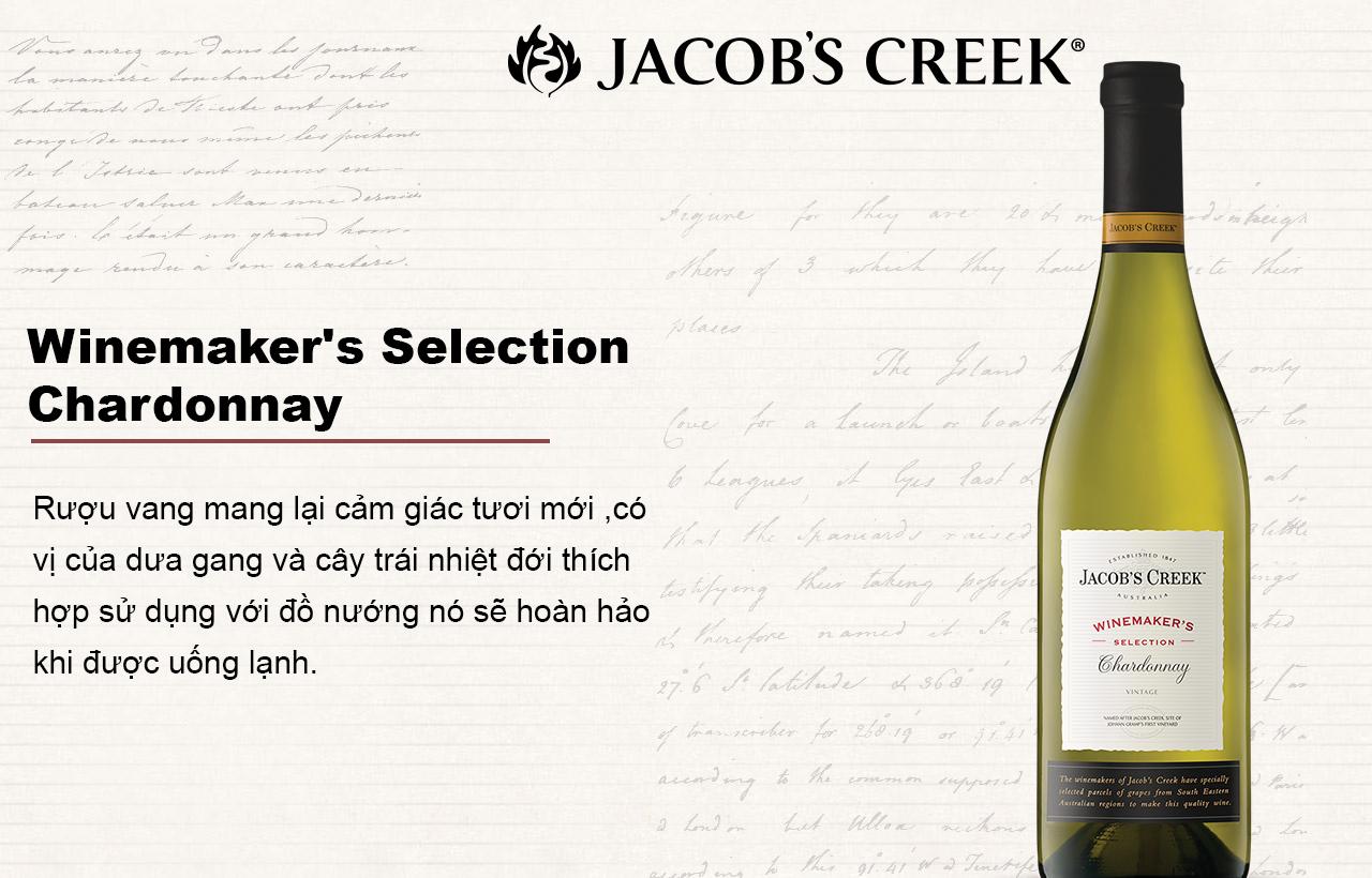 Quảng cáo rượu Jacob's Creek Winmaker's Selection Chardonnay