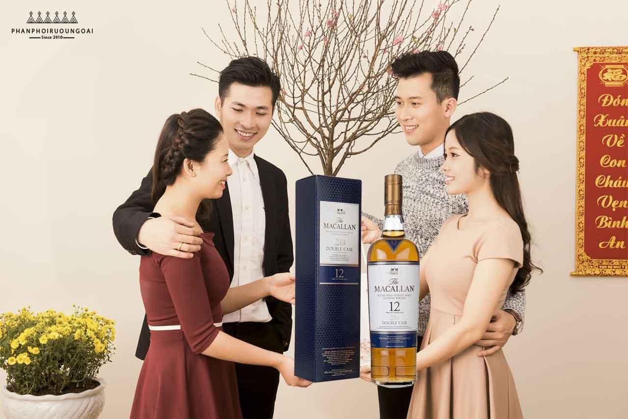 Biếu tặng rượu Macallan 12 Fine Oak rất phù hợp cho dịp tết nguyên đán 2018 q