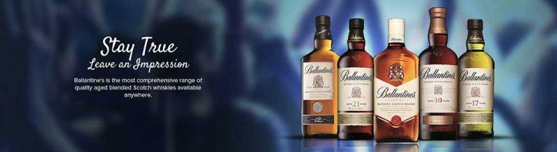 Bộ sưu tập các sản phẩm của Ballantine's