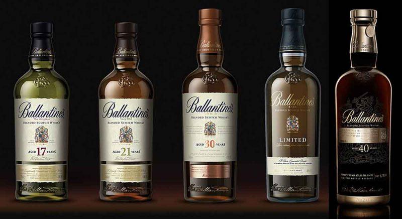 Các loại rượu Ballantine's sang trong và đẳng cấp