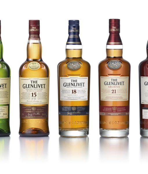 Các loại rượu glenlivet đang được cung cấp