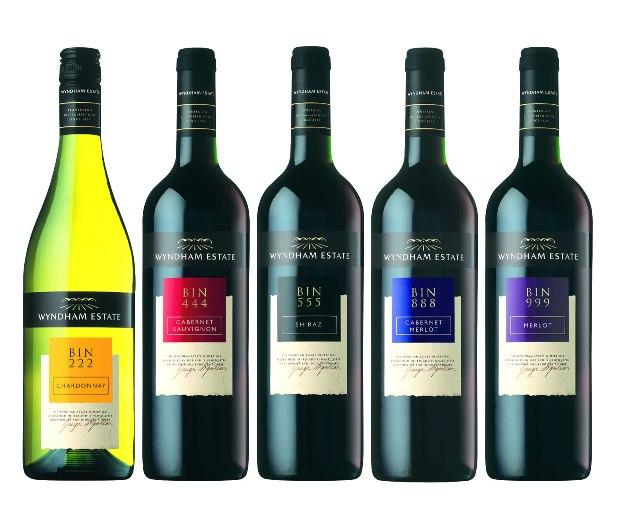 Các sản phẩm rượu vang của George Wyndham BIN