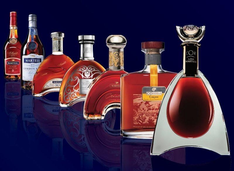 Bộ sưu tập các loại rượu của nhà Martell
