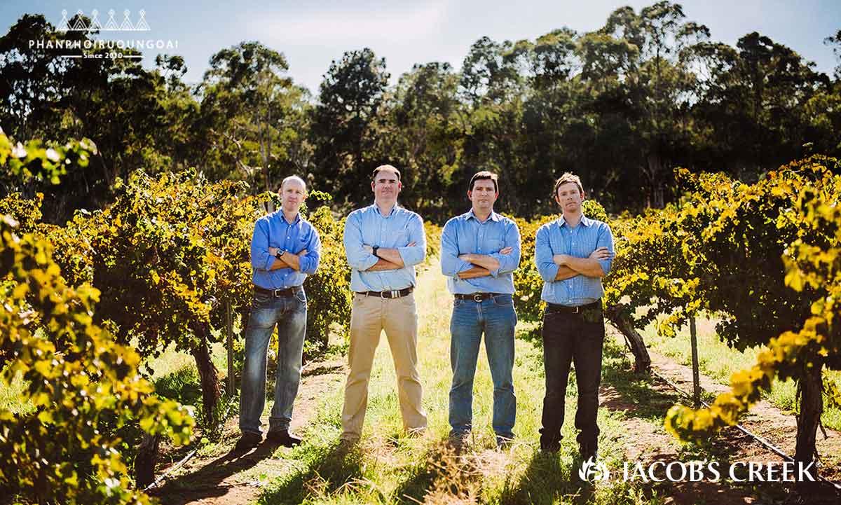 Các kỹ sư nông nghiệp của nhà Jacob's Creek