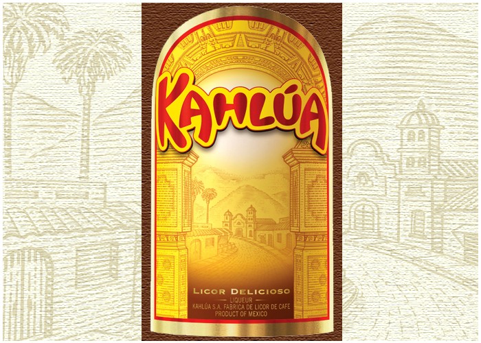 Nhãn chai rượu Cafe Kahlua
