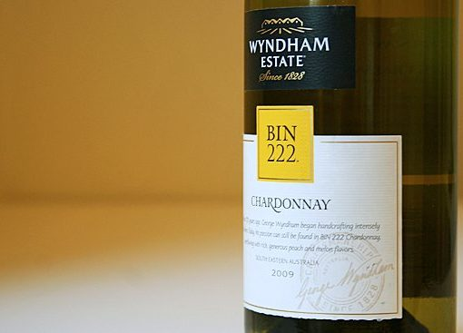 Nhãn chai rượu George Wyndham Bin 222