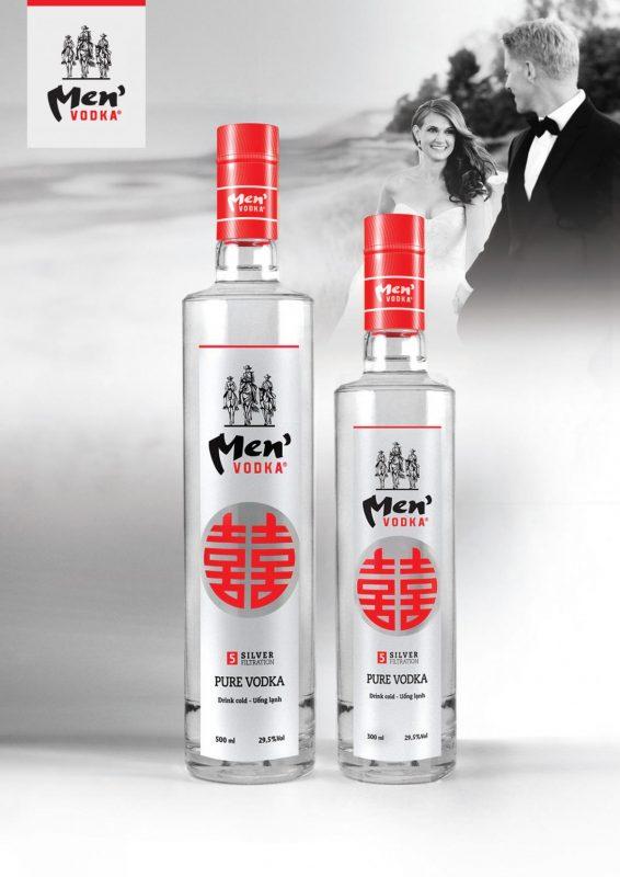 Poster rượu vodka men hỷ
