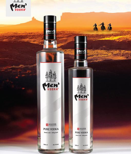 Banner quảng bá rượu vodka Men 25 độ