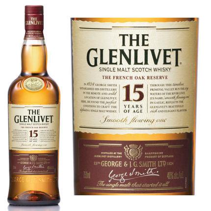 rượu glenlivet và nhãn sản phẩm