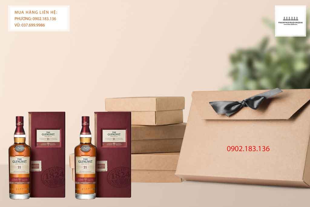 Rượu Glenlivet 21 năm tuổi món quà biếu tặng sang trọng cho các đối tác kinh doanh