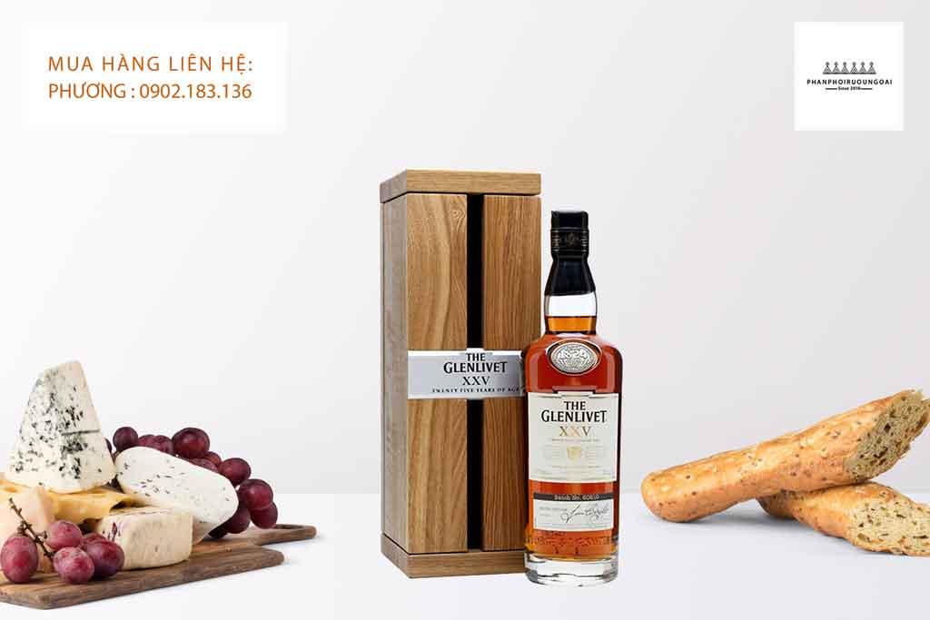 Rượu Glenlivet 25 năm món quà biếu tặng sang trọng và đẳng cấp
