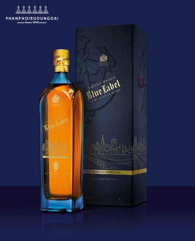 Rượu Johnnie Walker Blue Label hộp giấy