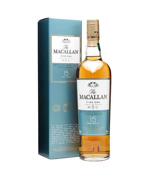 Rượu Macallan 15 năm Fine Oak và hộp giấy