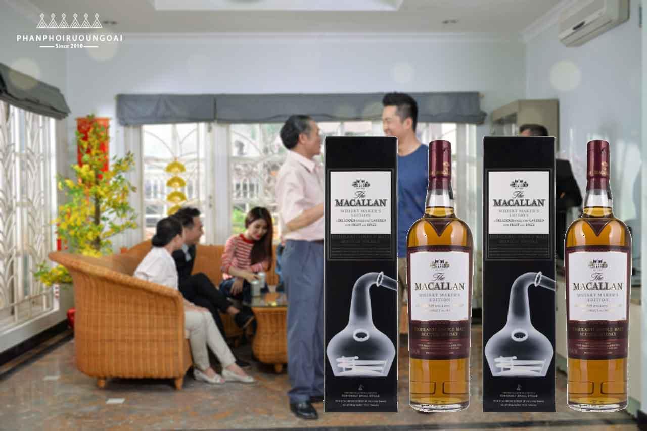 Rượu Macallan 1824 Whisky Makers Edition phù hợp cho biếu tặng 2018
