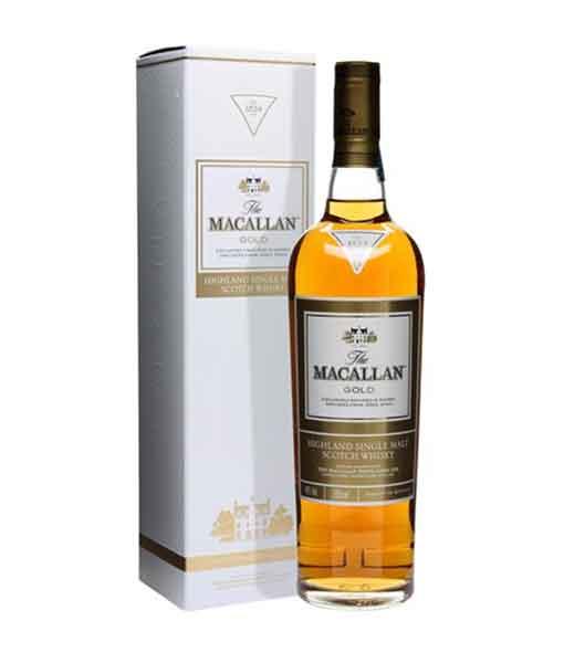 Rượu Macallan Gold và hộp giấy - The Macallan 1824 Collection