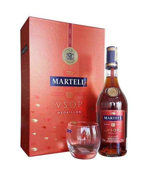 Hộp quà rượu Martell VSOP cho tết 2018