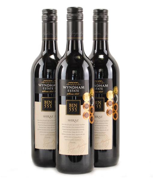 Bộ sưu tập rượu vang bin 555