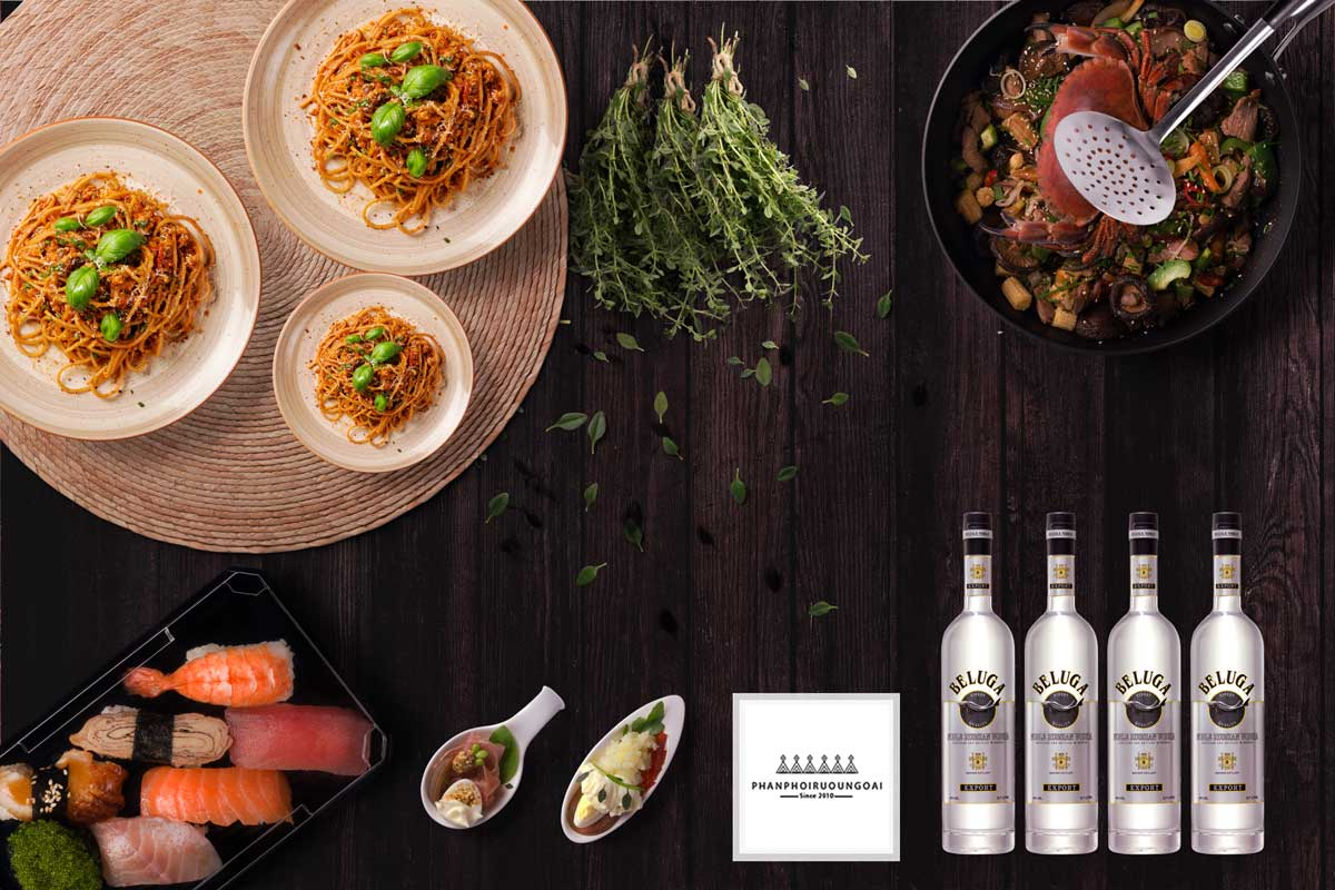 Rượu Vodka Beluga Noble và món ăn ngon