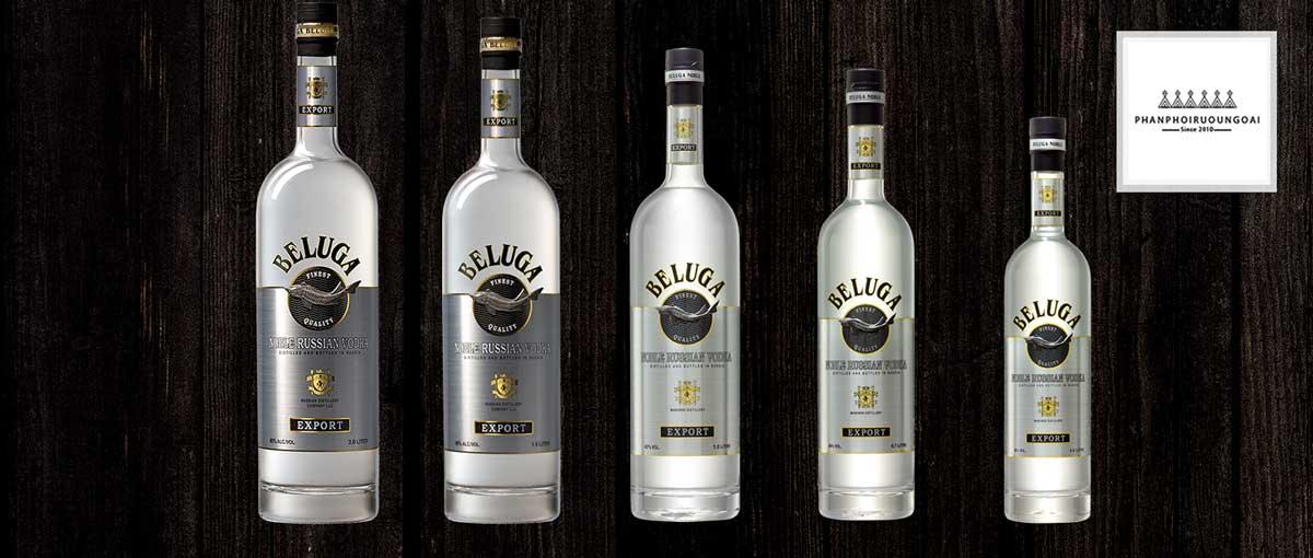 Rượu Vodka Beluga Noble các dung tích