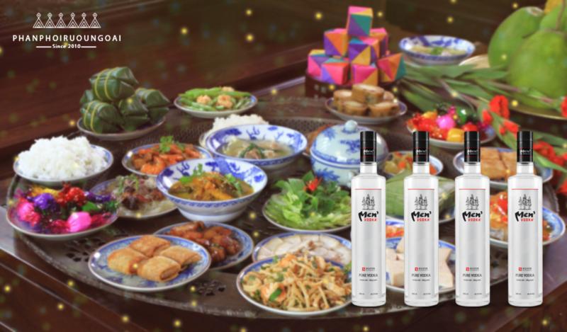 Rượu Vodka Men 29.5 độ kết hợp với các món ăn ngày tết
