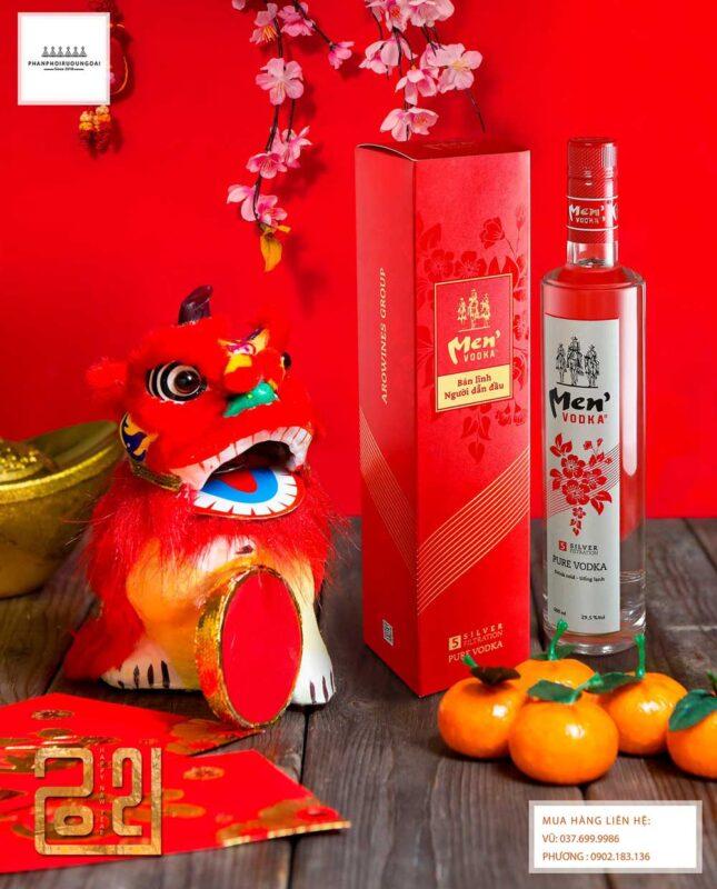 Rượu Vodka Men tết 2021 cho biếu tặng gia đình và đồng nghiệp