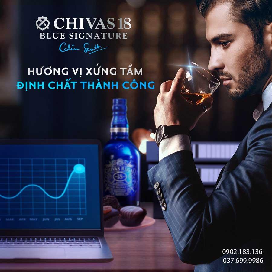 Thưởng thức rượu Chivas 18 Blue Signature - Định chất thành công của doanh nhân