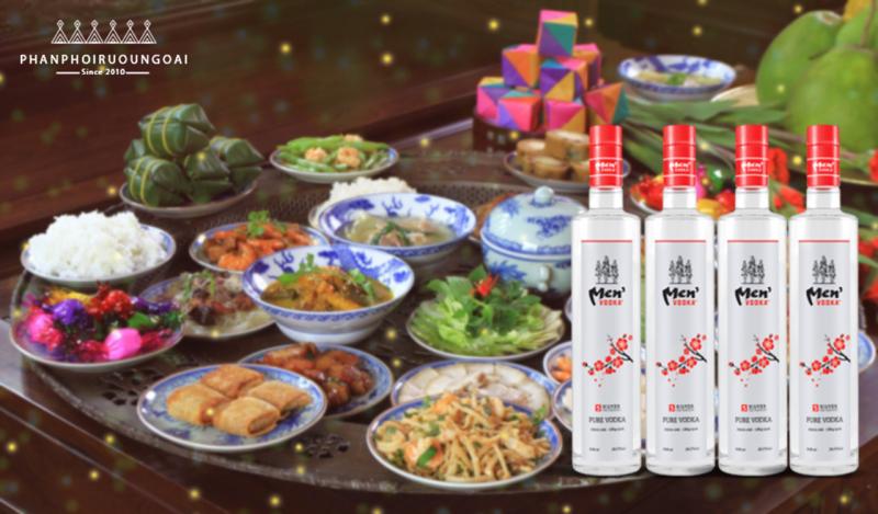Rượu Vodka Men tét và sự kết hợp với các món ăn