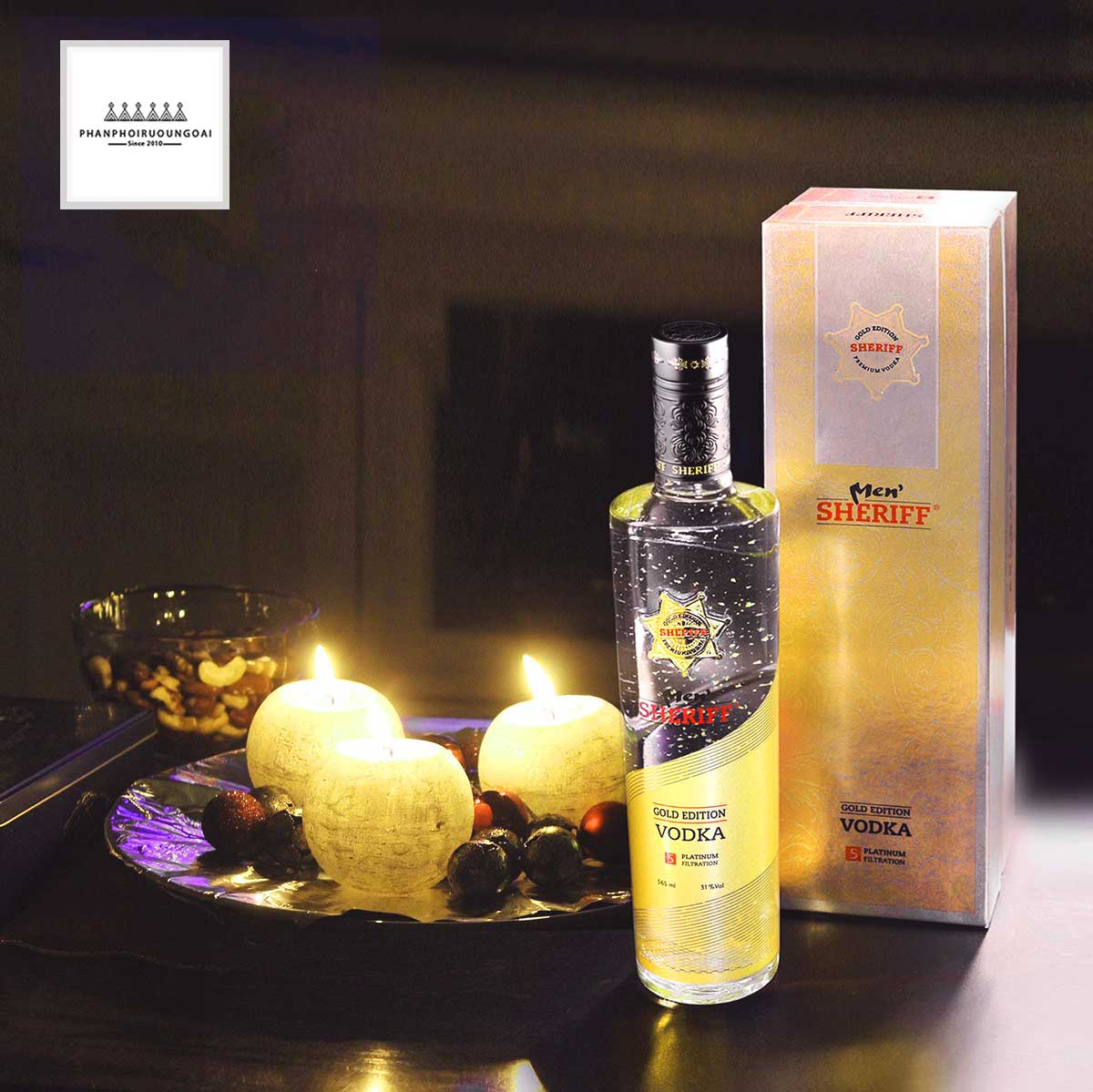 Ảnh rượu Vodka Men Sheriff Gold Edition
