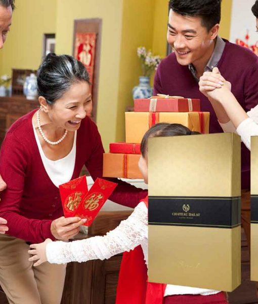 Hộp quà 2 chai vang Chateau Dalat Special cũng là món quà ý nghĩa dịp tết đến xuân về