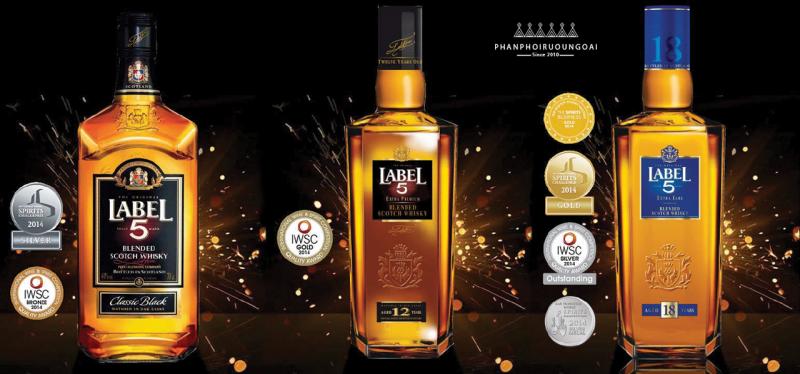 Các loại rượu Whisky Label 5