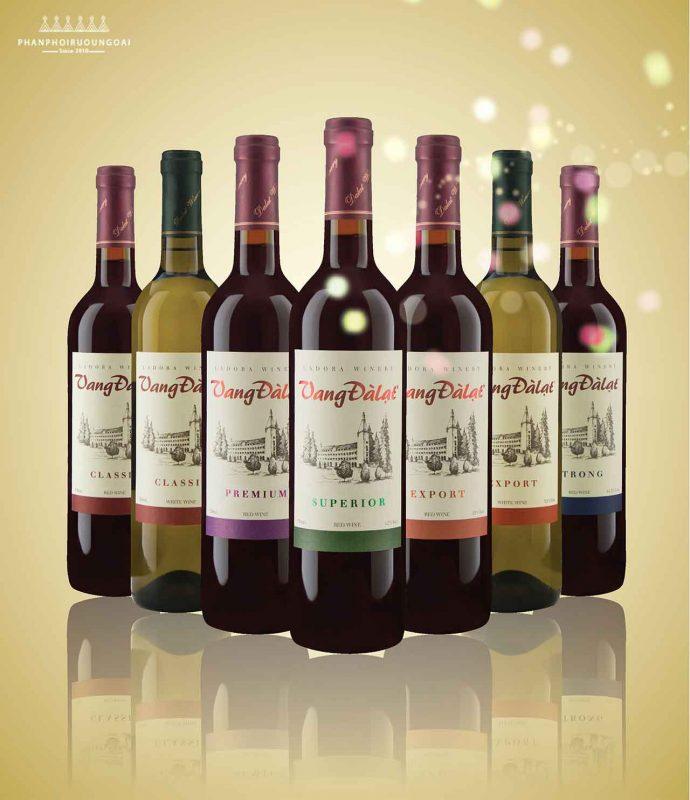 Các dòng sản phẩm của Rượu vang đà lạt cơ bản