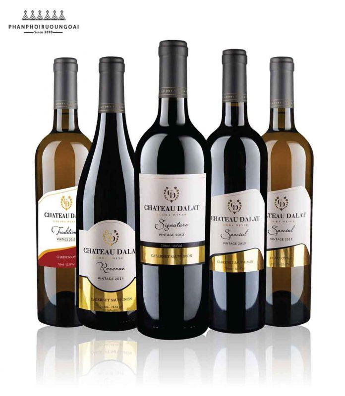 Các sản phẩm rượu vang Chateau Dalat