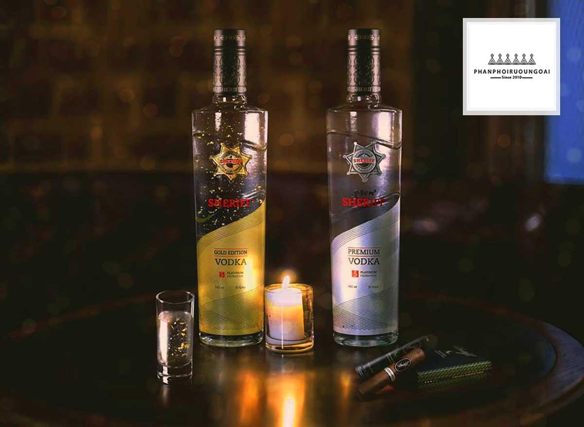 Cặp đôi rượu Vodka Men Gold Edition