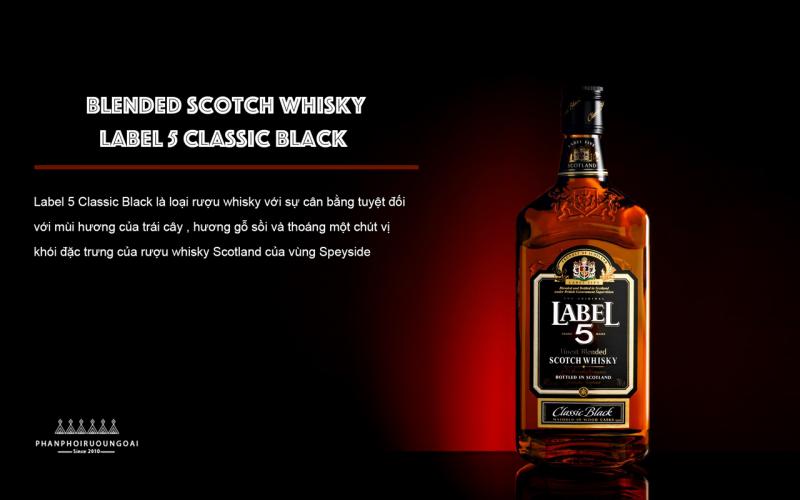 Giới thiệu tổng quan về rượu Label 5 Classic Black - Scotch Whisky
