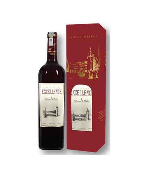 Hộp 1 chai vang Excellence đỏ