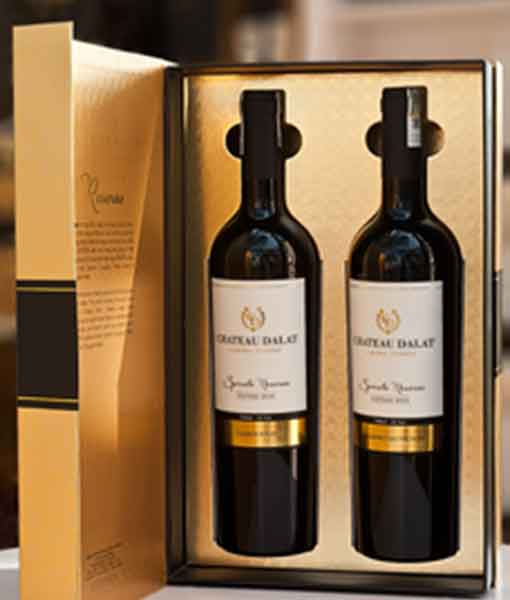 Hộp quà 2 vang Chateau Dalat Spirato Limited Edition