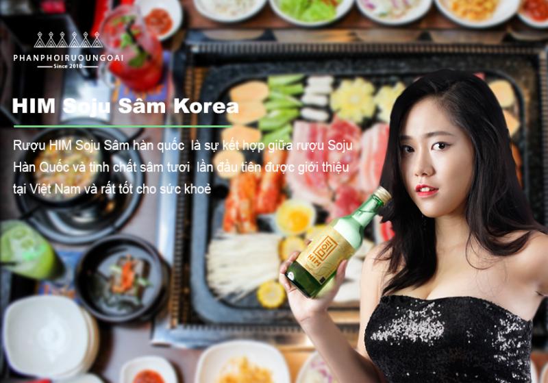Rượu Him Soju Sâm hàn quốc đã bắt đầu phân phối