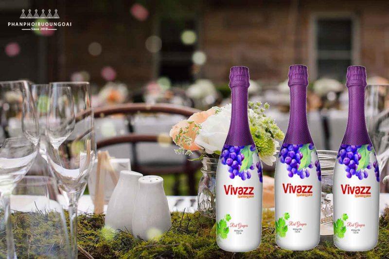 Nước ép trái cây nho đỏ Vivazz Sparkling Juice