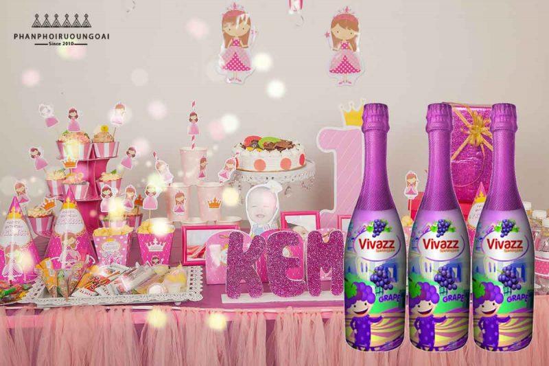 Nước ép trái cây sử dụng cho sinh nhật Vivazzz Sparkling Juice - Nho