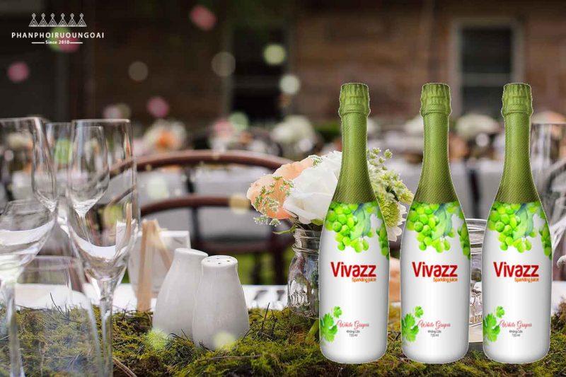 Nước ép trái cây Vivazz Sparkling Juice - Nho Xanh - Người Lớn
