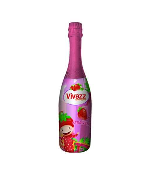 Nước ép trái cây Vivazz Sparkling Juice hương dâu cho trẻ nhỏ