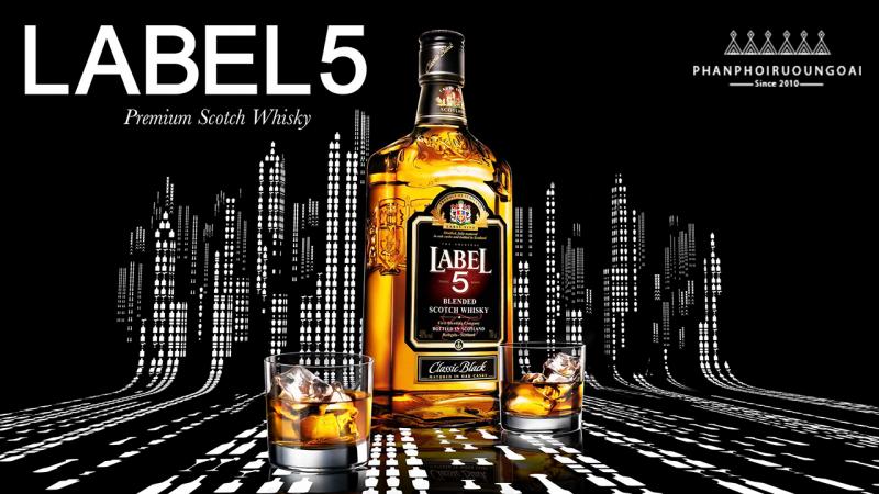 Poster quảng cáo rượu Label 5
