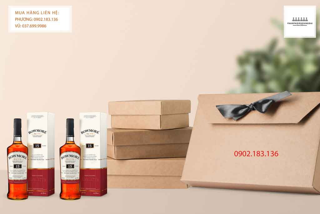 Rượu Bowmore 15 năm thích hợp cho biếu tặng