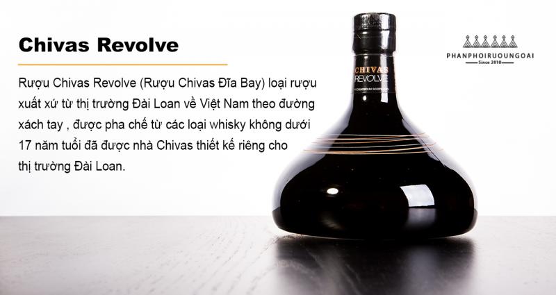 Rượu chivas đĩa - Chivas Revolve được thiết kế dành riêng cho thị trường Đài Loan