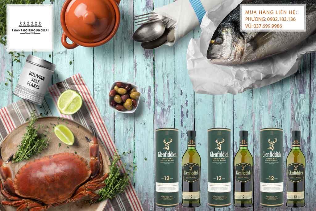 Rượu Glenfiddich 12 năm và hải sản