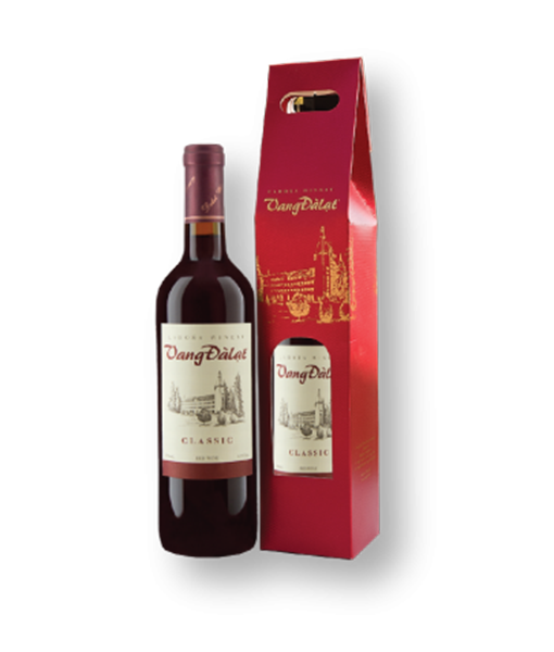 rượu vang đà lạt Classic hộp quà